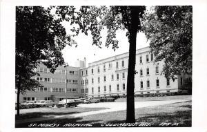 A55/ Columbus Wisconsin Wi Postcard Real Photo RPPC c1950 St Marys Hospital