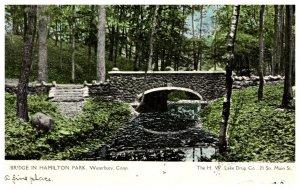 Connecticut Waterbury , Bridge in Hamilton Park