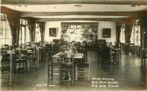 Big Sur California Interior Monterey 1920s Postcard Lodge Laws 3491