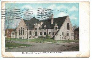Denver, CO - Plymouth Congregational Church - 1909