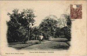 CPA AK Saigon Vue au Jardin Botanique VIETNAM-INDOCHINA (1105395)