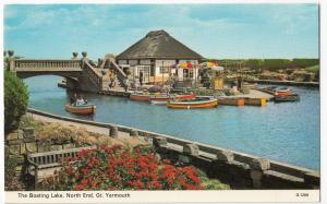 Norfolk; Great Yarmouth, Boating Lake, North End, PPC, Unused, c 70's, By Dennis