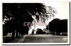 Old Postcard Nantes PlERRE Cours St Louis XVI and Column
