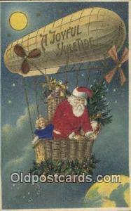Silk Santa Claus Old Vintage Antique Postcard Post Card