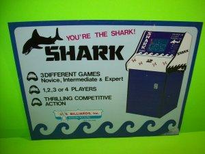 Shark Arcade FLYER 1975 Original Video Arcade Game Flyer Artwork Jaws Vintage