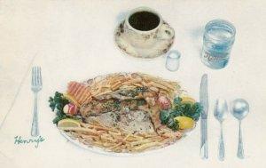 CHARLESTON, SC, 40-60s; Baked Stuffed Pompano a la Gherardi at HENRY'S