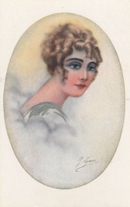 Woman portrait , 1900-10s ; #25A ; Artist J. FAVRE