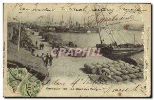 Old Postcard Marseille Quai des Forges Charter