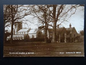 Norfolk BLICKLING Church & Rectory - Old RP Postcard by Barnwells Series 8075