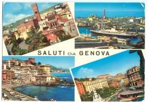 Italy, SALUTI DA GENOVA, used Postcard