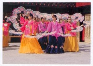 Women Doing The Korean Traditional Fan Dance, Korea, South, 1950-1970s