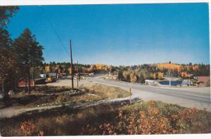 SIOUX NARROWS, Ontario, Canada, 1940-1960's; Main Street Looking North