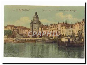 La Rochelle Old Postcard Old Port and tower of the big clock