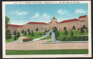 North Carolina colour Lee H. Edwards High School, Asheville, N.C unused