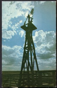 Texas One of the few remaining wind mills in TEXAS - pm1981 - Chrome