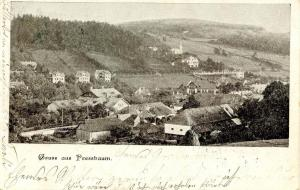 Austria - Gruss aus Pressbaum  (Bird's eye view of town)