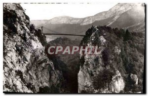 Old Postcard The Bauges Picturesque Bridge the Abyss