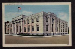 MA View US Post Office LYNN MASS Postcard Linen PC