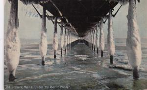 Maine Old Orchard Under The Pier In Winter 1910
