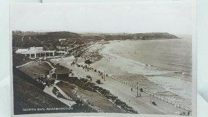 Vintage Rp Postcard Promenade North Bay Scarborough Real Photo