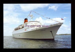 SIM0485 - Cunard Liner , Vistafjord , built 1973 - postcard