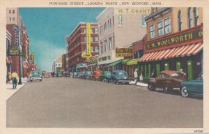 NEW BEDFORD, Massachusetts, 1930-40s ; Purchase Street, looking North