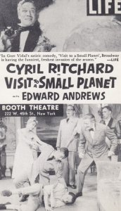 NEW YORK CITY , 1950s ; Booth Theatre Play Visit to a Small Planet