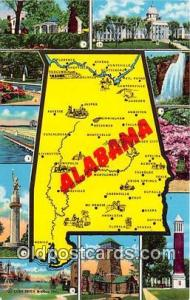 USA Postcard Post Card Alabama