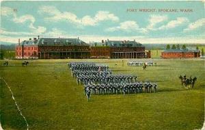WA, Spokane, Washington, Fort Wright, Parade Grounds, Spokane Post Card Co 38