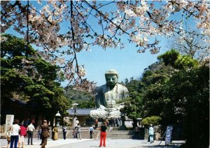 CPA KAMAKURA The Great Buddha in the Time of Cherry Bloom JAPAN (677189)