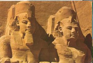 Egypt, Abou Simbel Rock Temple of Ramses II, used Postcard