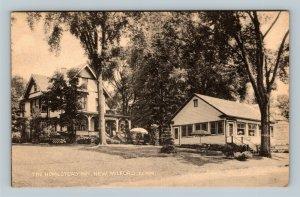 New Milford CT, The Homestead Inn, Linen Connecticut Postcard