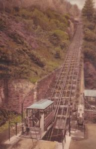 Lynmouth Cliff Railway Devon Train Vintage Postcard