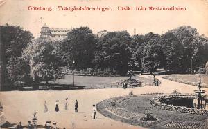 Sweden Old Vintage Antique Post Card Tradgardsforeningens Restaurant Goteborg...
