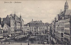 BONN, North Rine Westphalia, Germany, 1900-1910's; Marktplatz