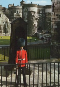 Military Postcard - Guardsman Outside The Tower of London  RR7661