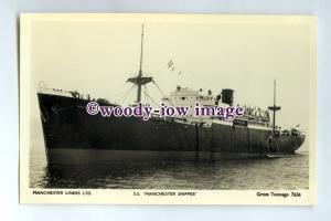 pf0140 - Manchester Liners Cargo Ship - Manchester Shipper built 1943 - postcard