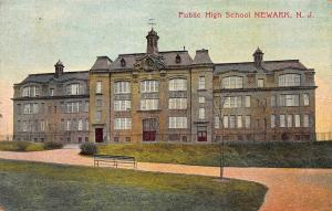 Public high School, Newark, New Jersey, Early Postcard, Used in 1909