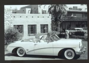 REAL PHOTO 1954 BUICK SKYLARD CAR DEALER ADVERTISING POSTCARD '54 BUICK