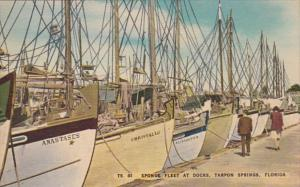 Florida Tarpon Springs Diver Sponge Fleet At The Docks