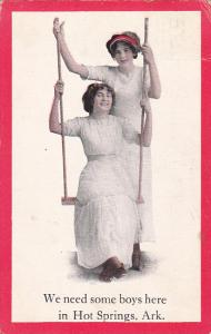 Ladies On A Swing 1912