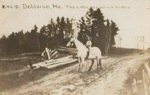 RP; Deblois , Maine , 1915 ; Girl on White Horse