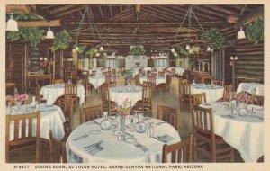GRAND CANYON Nat. Park, Arizona, 30-40s; Dining Room,El Tovar Hotel, Fred Har...