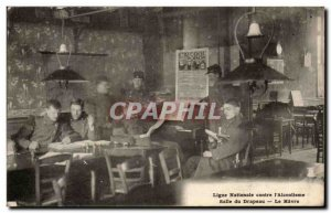 Le Havre - National League against the & # 39alcoolisme - Room of Flag Old Po...