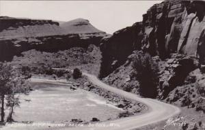 Red Grade A Y P Highway Below Dubois Wyoming Real Photo