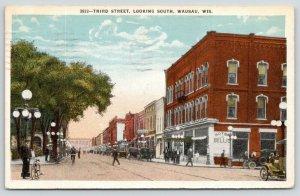 Wausau Wisconsin~Third Street South~Hotel Bellis~Drug Store~1921