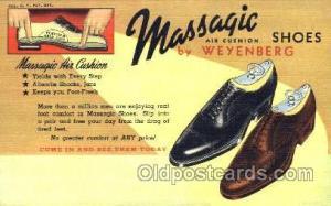 Massagic Shoe Advertising Postcard Postcards Unused