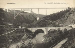 CPA Garabit Le Viaduc et le Pont Cantal (101330)