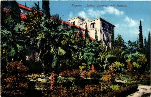 CPA AK CROATIA DUBROVNIK - RAGUSA Schloss Lacroma mit Palmen (571129)
