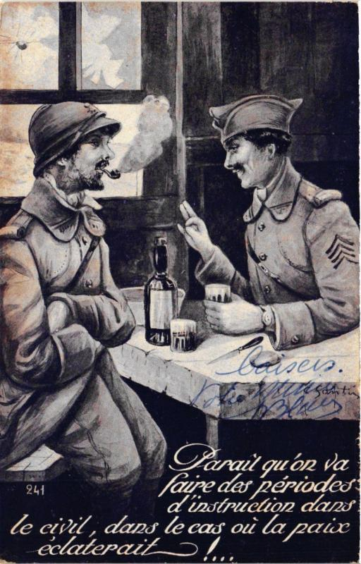 CPA  Militaire - Soldats - Soldiers Drinking and Smoking  (696473)